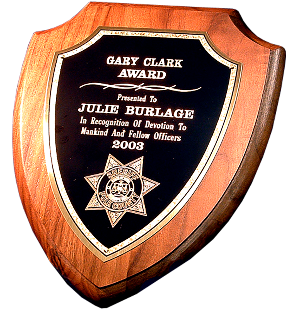 Shld Quote: Police Shield Plaque