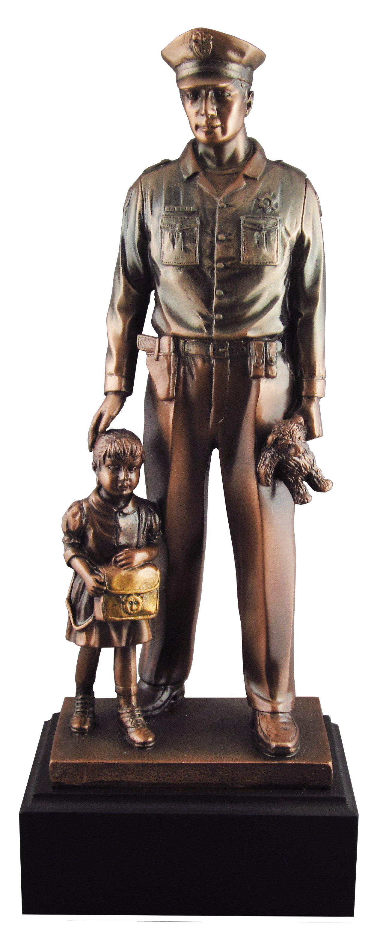 Policeman with Child Statue
